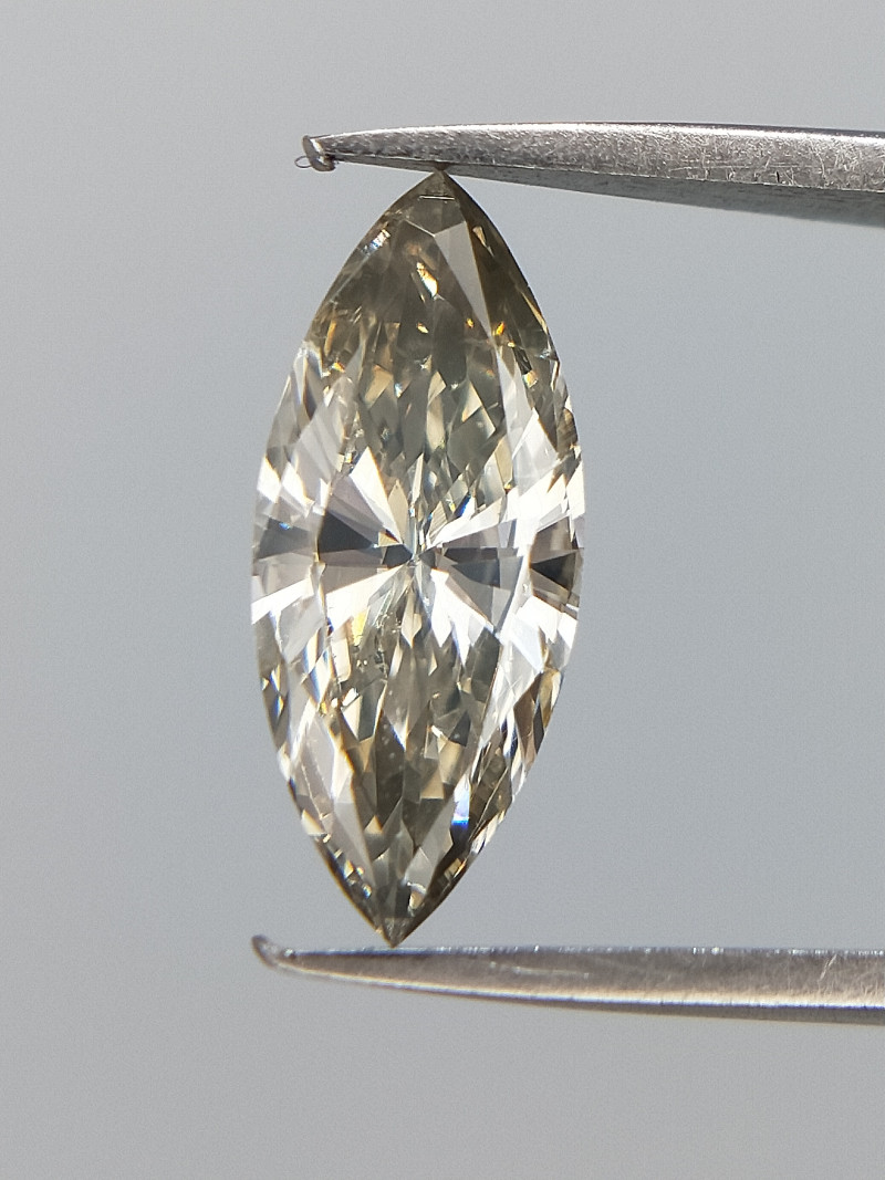 Mild grey Diamond , Marquise Brilliant Cut , 0.36 cts