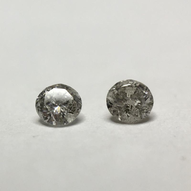 0.09 ct Fancy light grey  I3 Round Brilliant Diamond