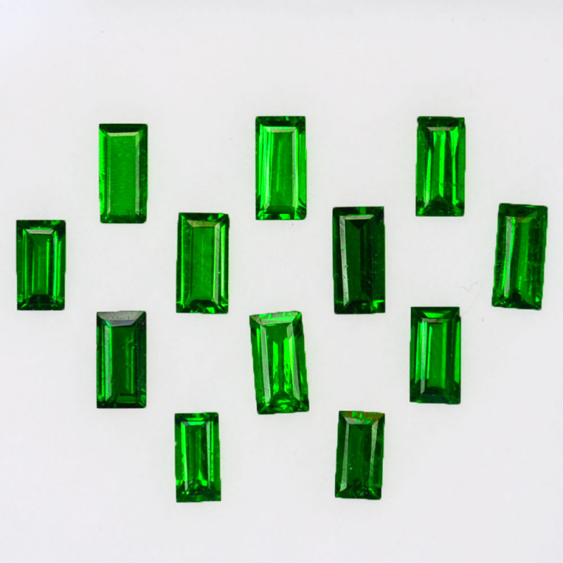 2.22 Cts Natural Top Green Tsavorite Garnet 5 X 2.30mm Baguette Parcel Keny