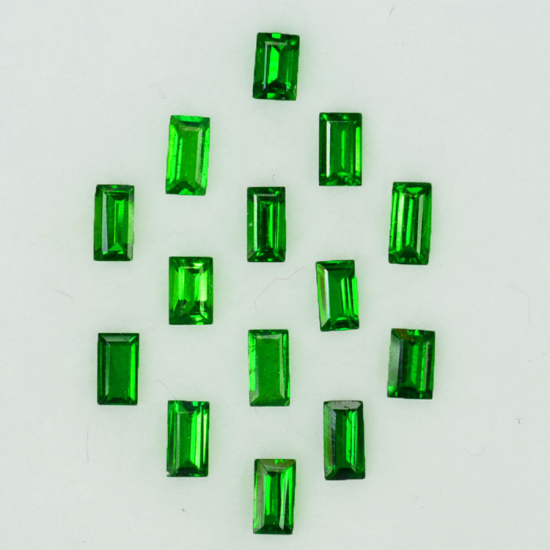 1.64 Cts Natural Top Green Tsavorite Garnet Baguette 3.5 X 2.0mm  Parcel Ke