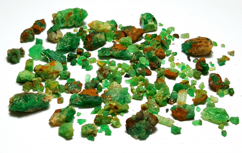 Amazing Natural color Lovely Rough Emerald parcel 145Cts-Afghan