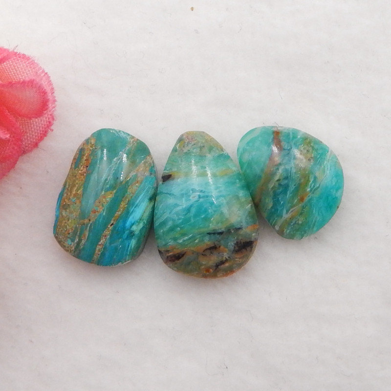 19cts Natural Blue Opal Cabochons, October Birthstone, Blue Opal H208