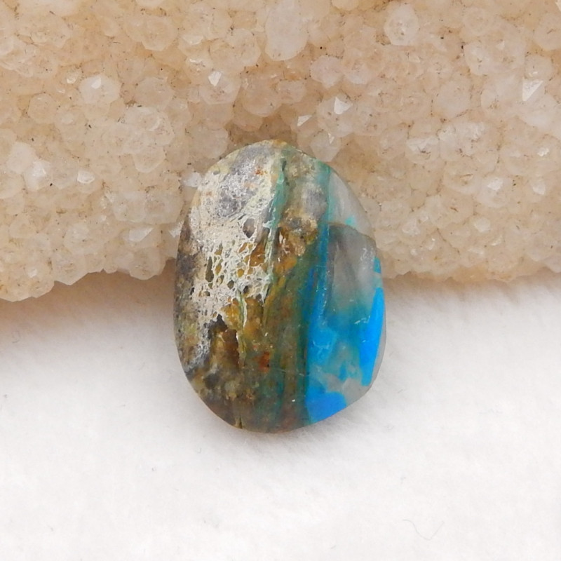 10.5cts Natural Blue Opal Cabochon, October Birthstone, Blue Opal H219