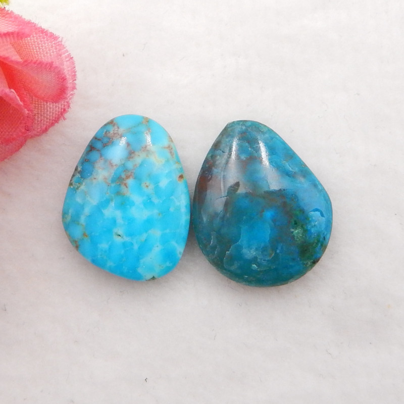 16.5cts Natural Blue Opal Cabochons, October Birthstone, Blue Opal H225