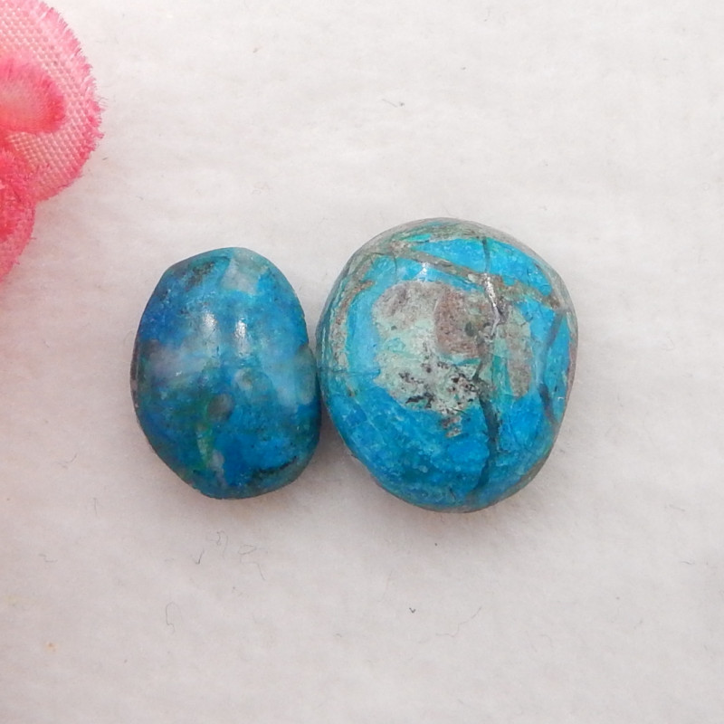 14.5cts Natural Blue Opal Cabochons, October Birthstone, Blue Opal H233