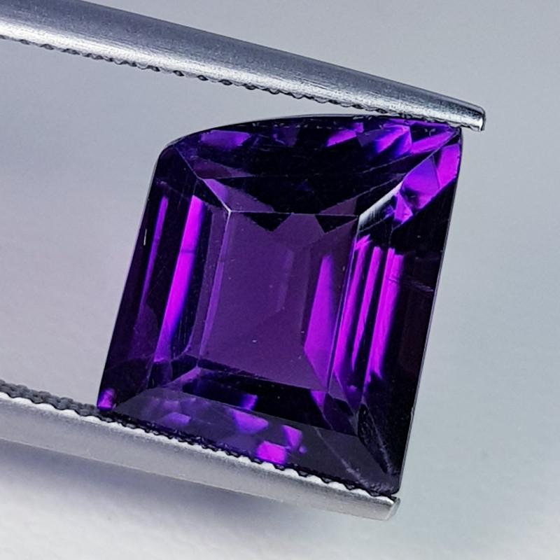 9.12 ct  Top Quality Gem Superb Fancy Cut Natural Purple Amethyst