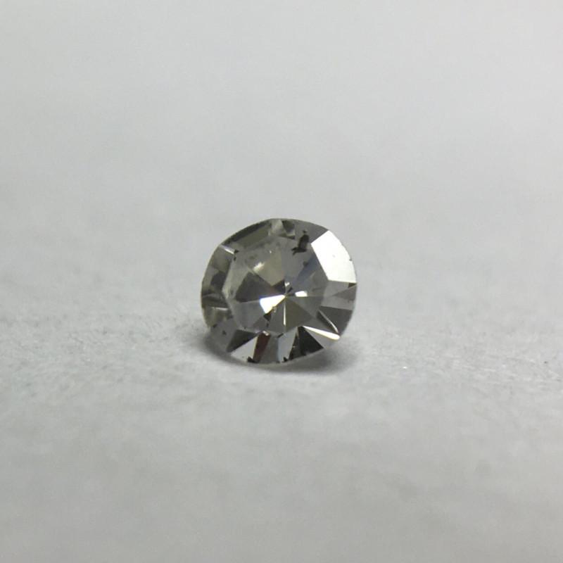 0.035 ct Fancy Grey I1 Single Cut Round Diamond