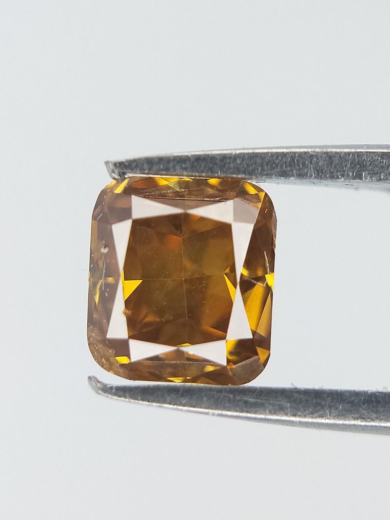 Yellow Mild Diamond ,  Cushion Brilliant Cut , 0.28 cts