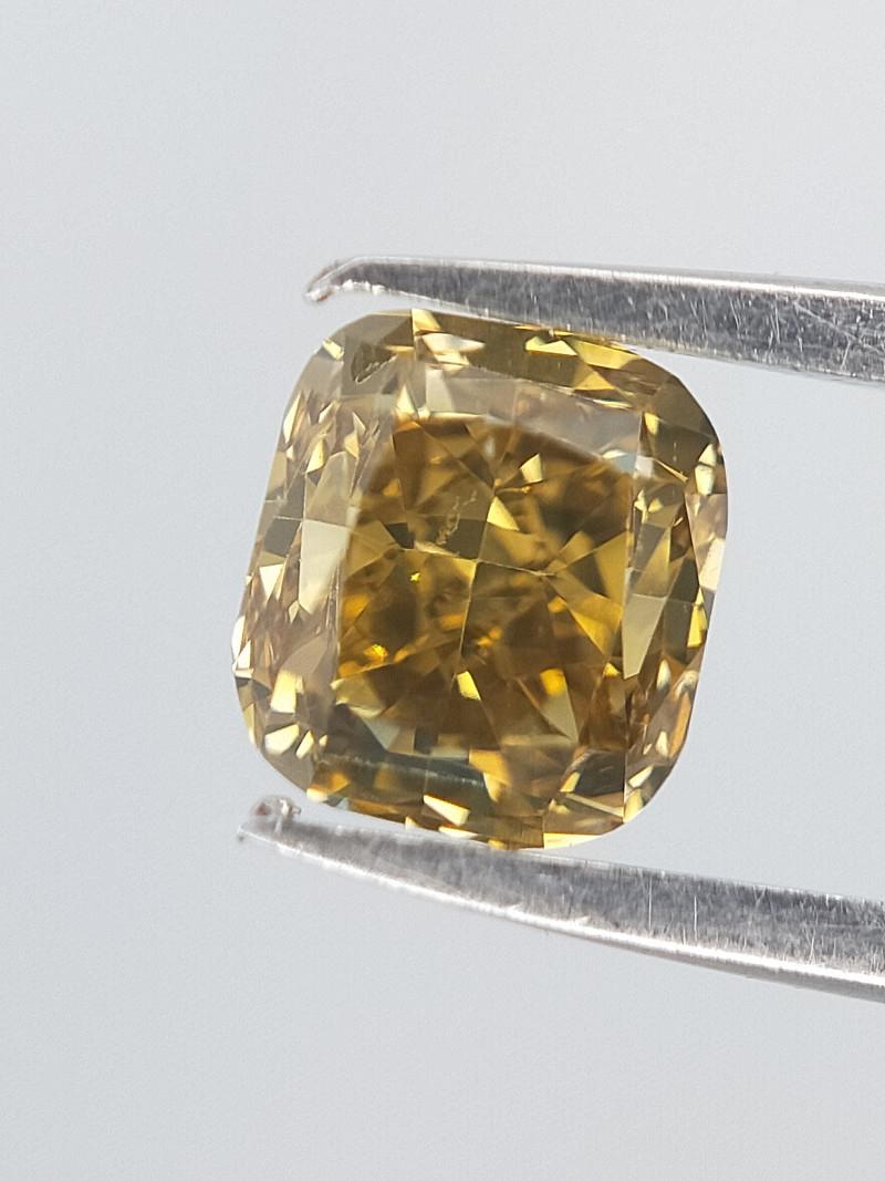 Champagne Colour Diamond , Cushion Brilliant Cut , 0.29 cts