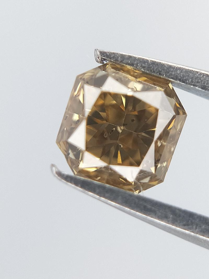 Brown Colour Diamond , Cushion Brilliant Cut , 0.26 cts