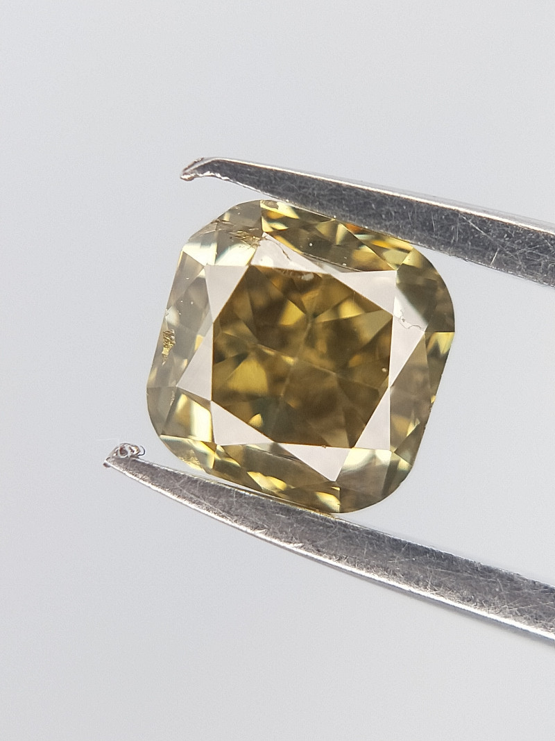 Square Brown Diamond , Cushion Brilliant cut , 0.25 cts