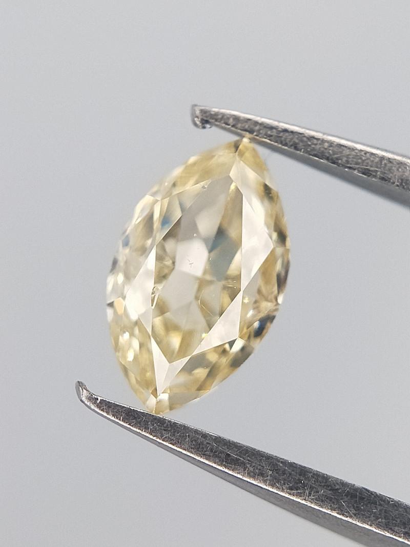 Orange Tinted Diamond , Marquise Brilliant Cut , 0.23 cts