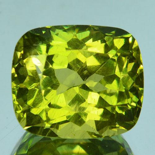 ~PRETTY~ 8.52 Cts Natural Greenish Yellow Apatite Cushion Cut Brazil