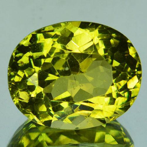 8.42 Cts Natural Greenish Yellow Apatite Oval Cut Brazil