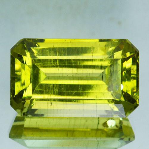 ~BEAUTIFUL~ 10.25 Cts Natural Greenish Yellow Apatite Octagon Cut Brazil