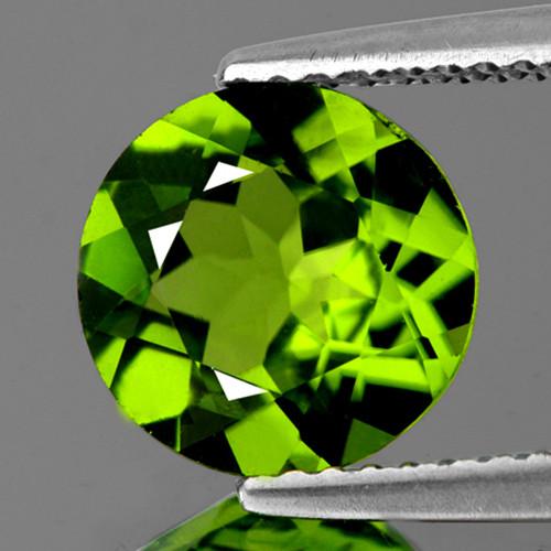 5.80 mm Round 0.70ct Green Peridot [VVS}