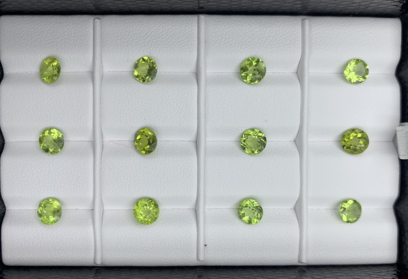 10.86 CT  Peridot Gemstones Parcel