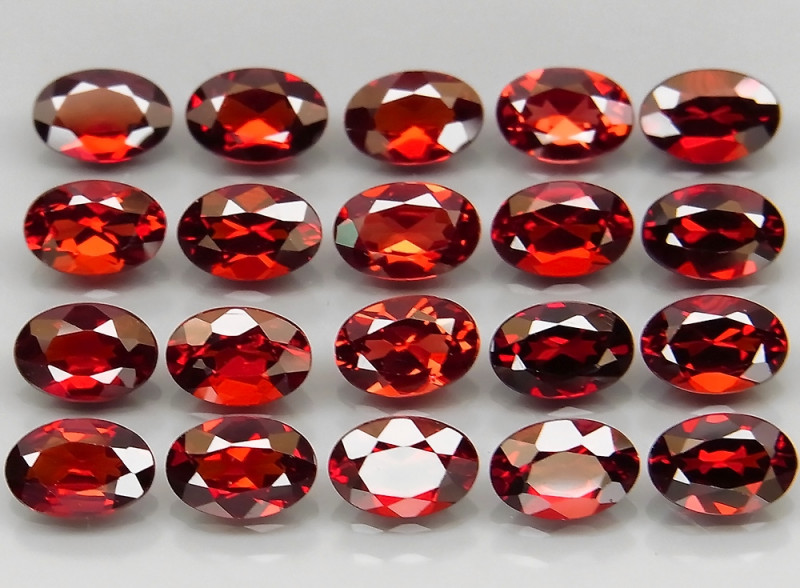 11.10 ct. Natural Earth Mined Red Rhodolite Garnet Africa - 20 Pcs