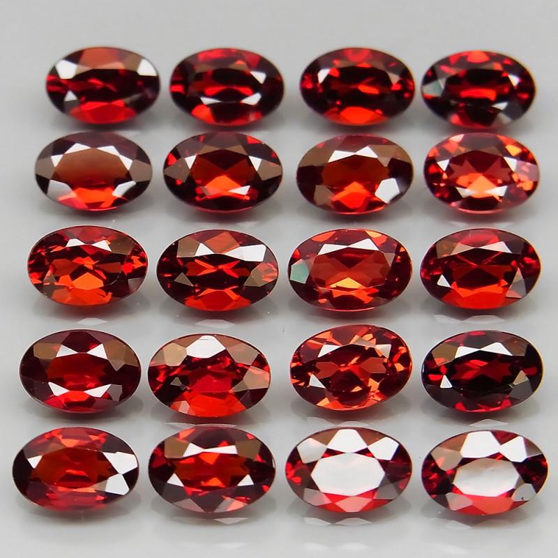 10.74 ct. Natural Earth Mined Red Rhodolite Garnet Africa - 20 Pcs