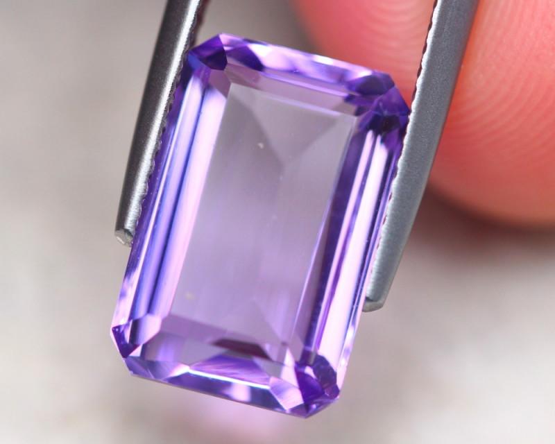 5.59ct Natural Purple Bolivia Amethyst Octagon Cut Lot V7710