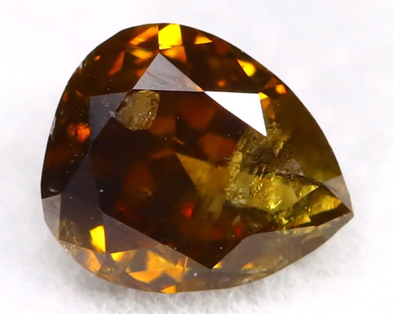 Champagne Diamond 0.36Ct Untreated Genuine Fancy Diamond C2909