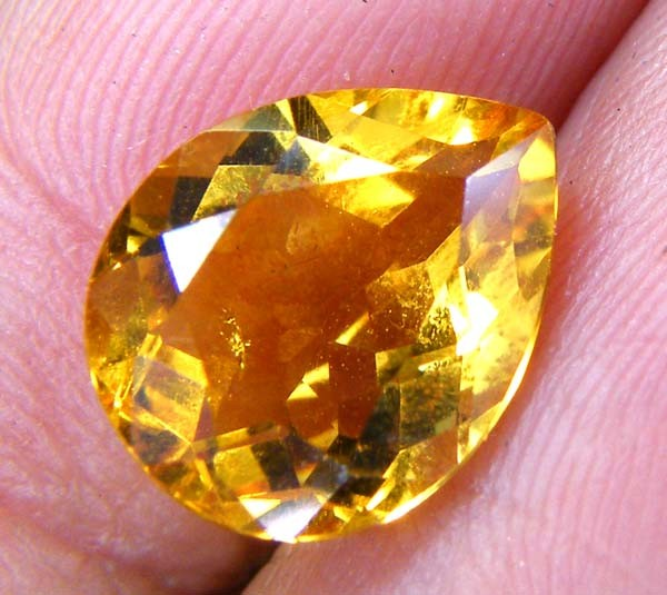 CITRINE NATURAL FACETED  3CTS AS-841