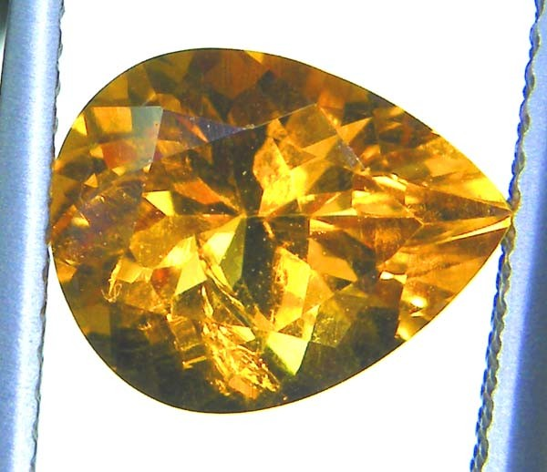 CITRINE NATURAL FACETED  2.25CTS AS-878