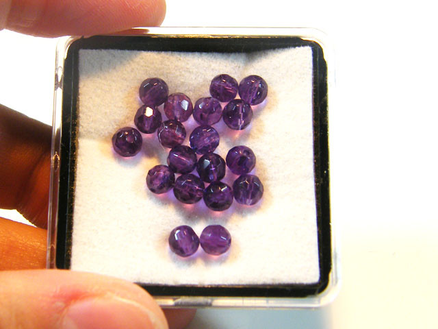 4 MM  QUALITY AMETHYST FACETED BEADS 10  CTS ST 345