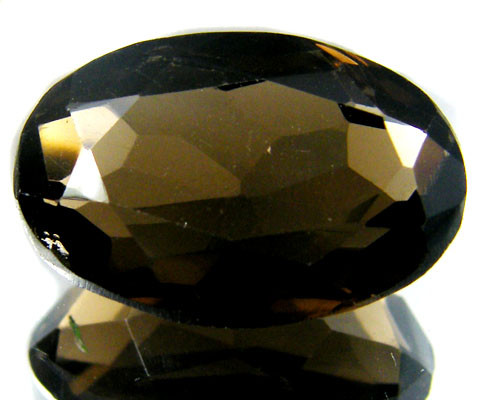 LARGE SMOKEY GREY FACETED QUARTZ 16.4  CTS  ST 534