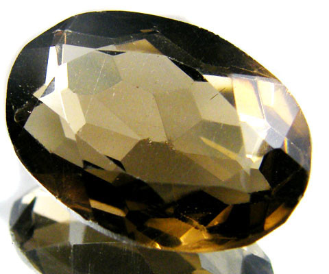 LARGE SMOKEY GREY FACETED TOPAZ  17.75 CTS  ST 535