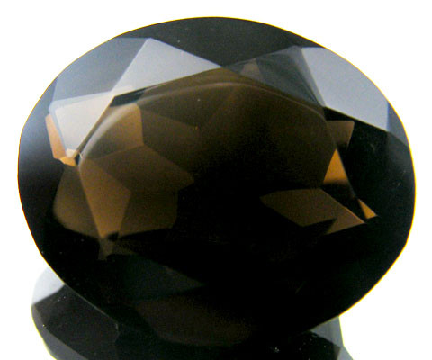 WOW LARGE SMOKEY GREY FACETED TOPAZ  30.9 CTS  ST 538