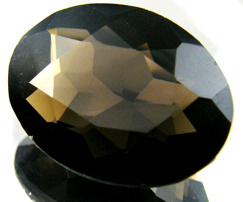 LARGE SMOKEY GREY FACETED TOPAZ  18 CTS  ST 551