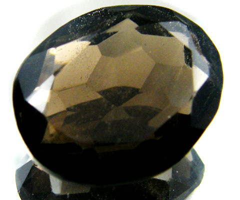 LARGE SMOKEY GREY FACETED TOPAZ  17.35 CTS  ST 552