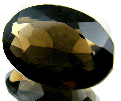 LARGE SMOKEY GREY FACETED TOPAZ 20.15  CTS  ST 554