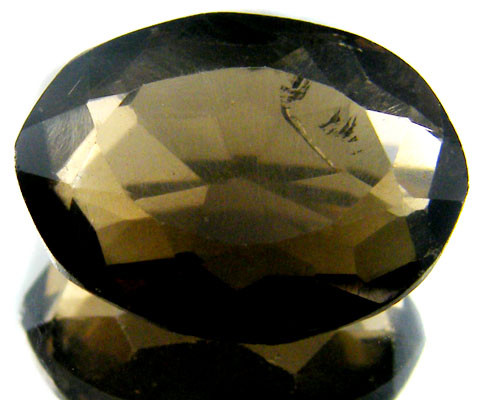 LARGE SMOKEY GREY FACETED TOPAZ  13.60 CTS  ST 559