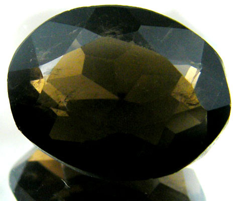 LARGE SMOKEY GREY FACETED TOPAZ 14.10  CTS  ST 561