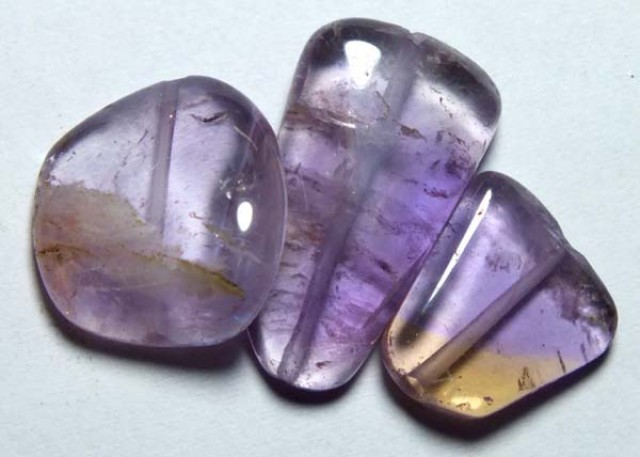 AMETHYST BEAD NATURAL (3PC) 23.60CTS NP-808