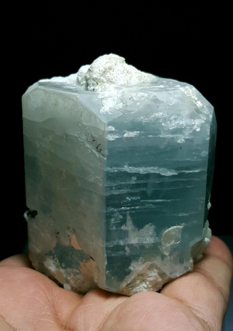 Amazing Natural color Damage free gemmy Aquamarine combine with Tourmaline