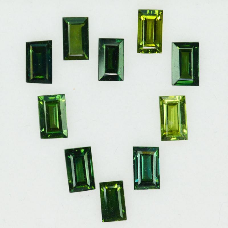 3.39Ct Natural Australian Green Sapphire Baguette  5 X 3mm Parcel