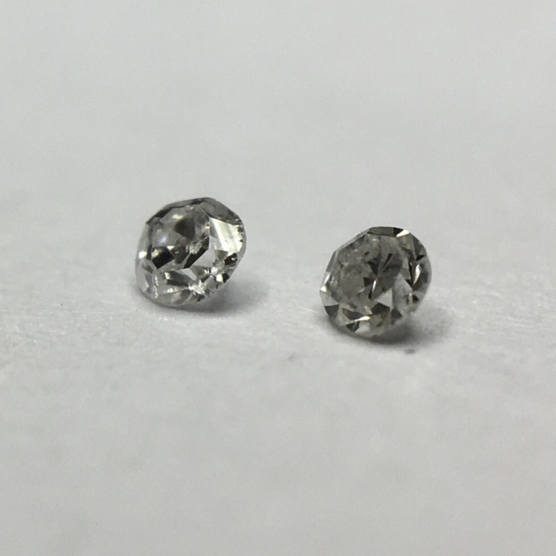 0.02 ct 2 x Light Grey VS Single Cut Round Diamond