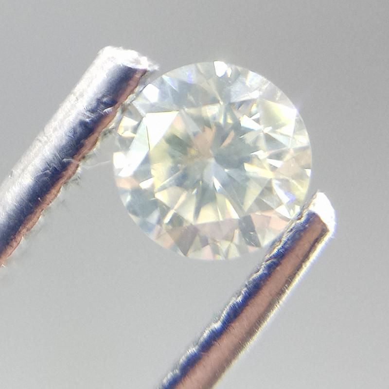 0.395ct Faint Yellow   Diamond , 100% Natural Untreated