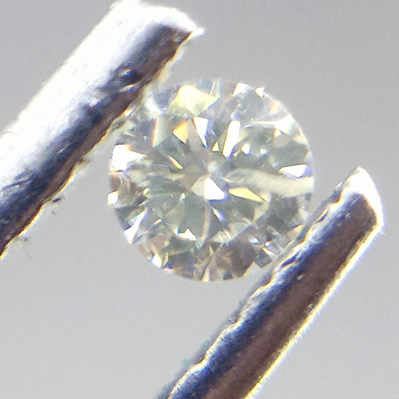 0.105ct  Faint Yellow Diamond , 100% Natural Untreated
