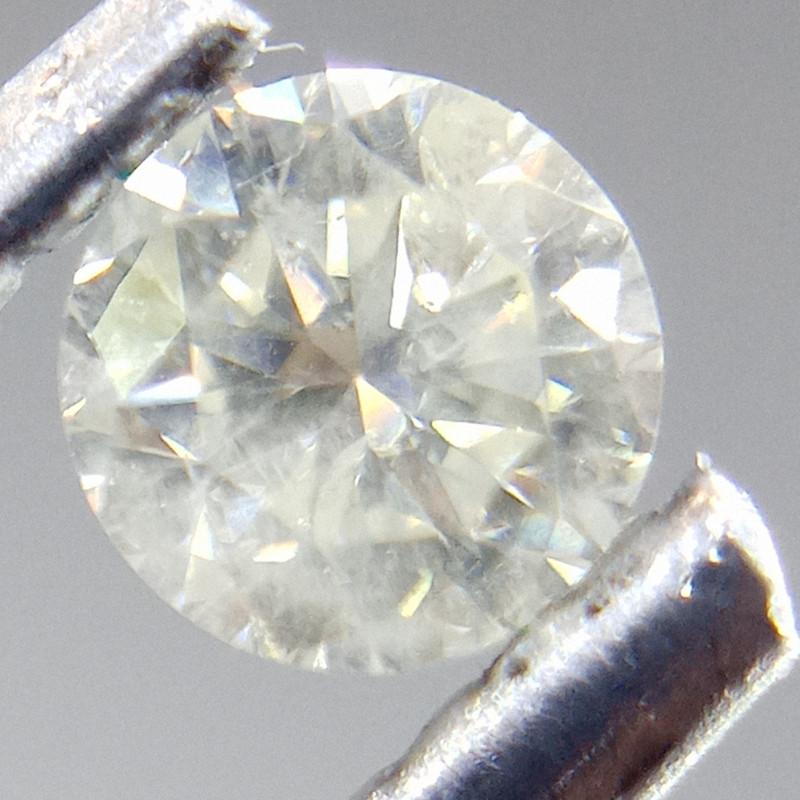 0.23ct  Faint Yellow Diamond , 100% Natural Untreated