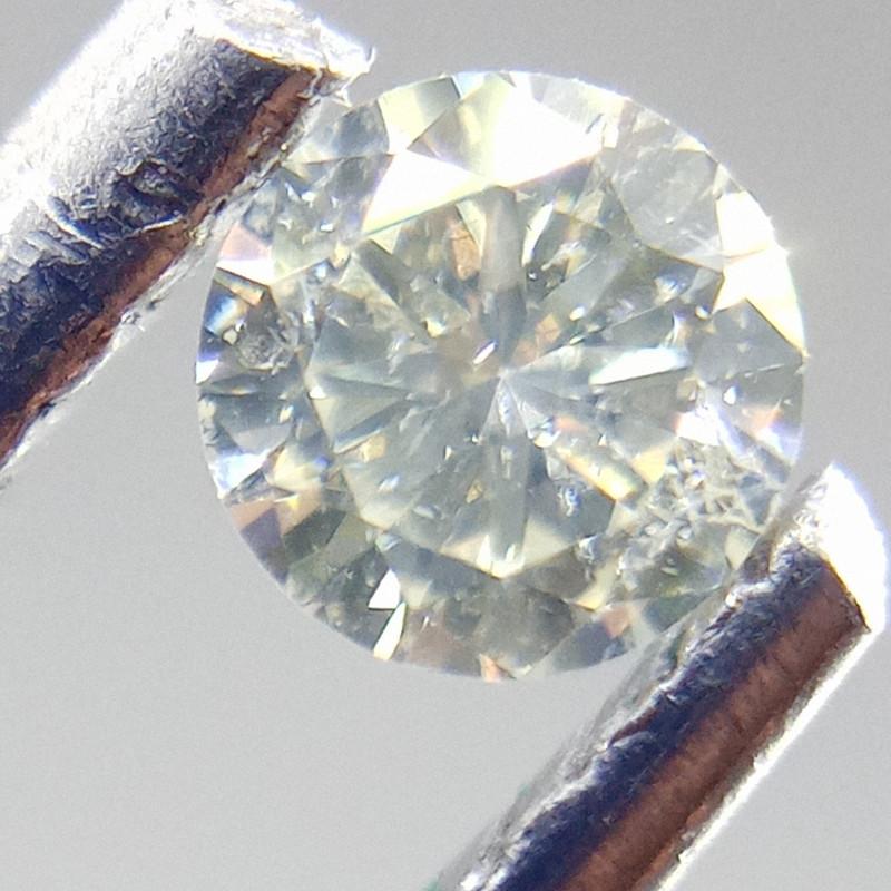 0.165ct White   Diamond , 100% Natural Untreated