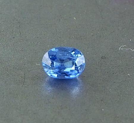 0.47ct unheated blue sapphire