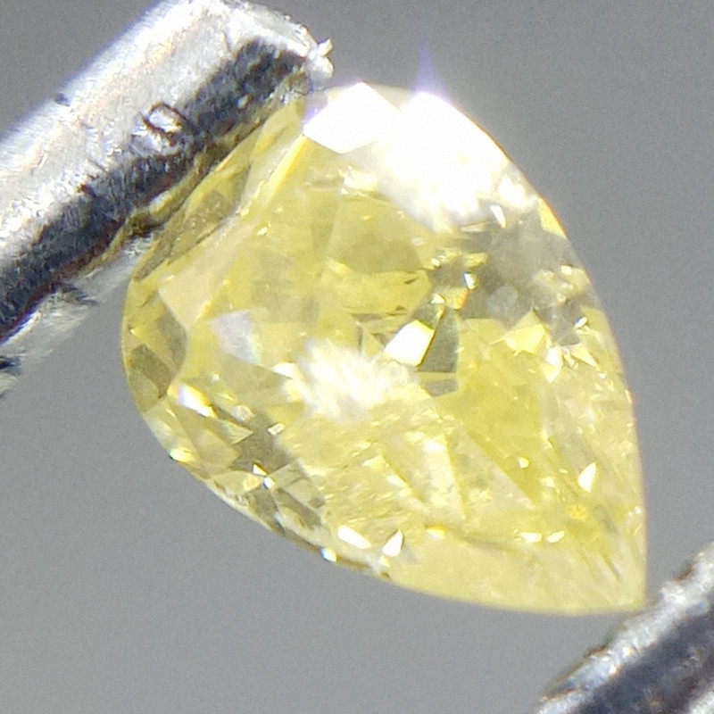 0.265ct Fancy Intense greenish Yellow   Diamond , 100% Natural Untreated