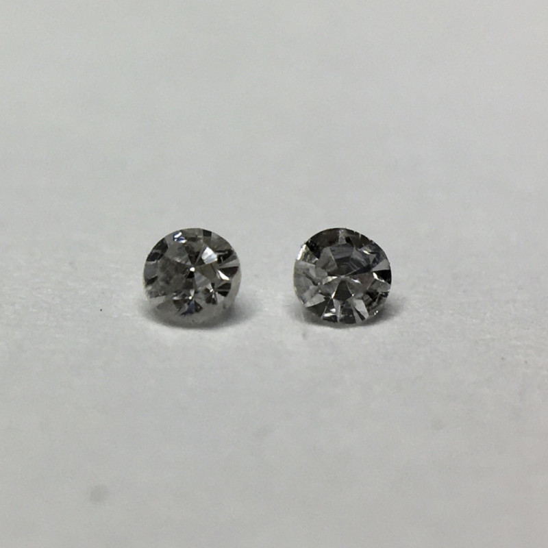 0.02 ct 2 x Fancy Light Grey VS Round Diamond