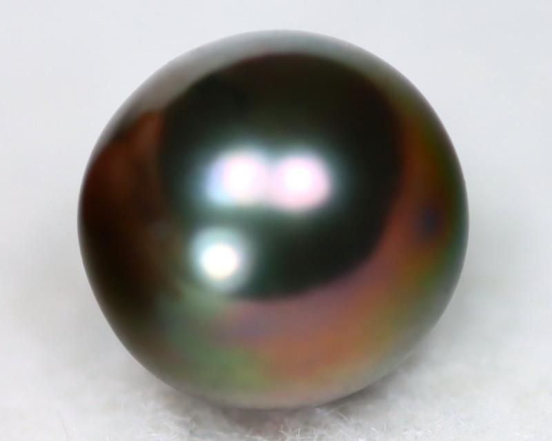 South Sea Pearl 11.5mm Natural Tahitian Black Salt Water Pear C0111