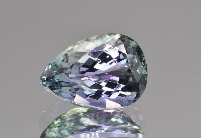 Natural Tanzanite 3.92 Cts Peacock Color Top Grade  Faceted Gemstone
