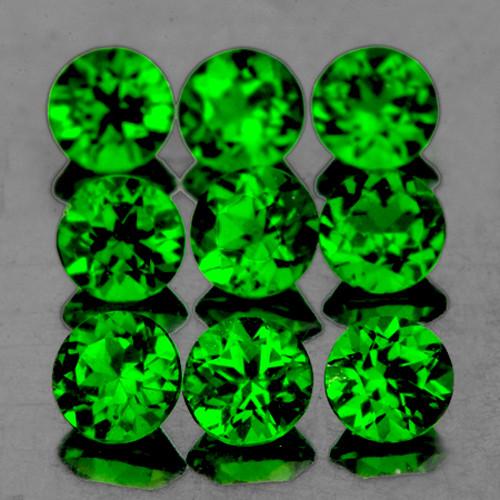 3.00 mm Round 12 pcs Chrome Green Diopside [VVS]